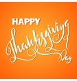 Handwritten Thanksgiving Day lettering vector image