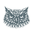 owl head - icon design vector image