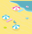 sea beach isometric vector image