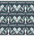 Seamless floral pattern in the style of Chinese vector image