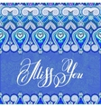 miss you inscription hand lettering on luxury vector image