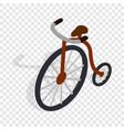 highwheel bike isometric icon vector image
