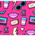 neon pop background vector image