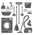 Cleaning symbols vector image