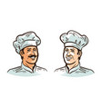 portrait of happy smiling chef cook or baker in vector image