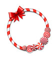 Frame made of candy cane vector