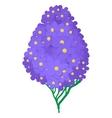 Violet hydrangea icon cartoon style vector image