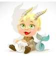 Baby zodiac - sign Capricorn vector image