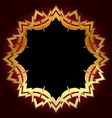 black shield with gold border vector image