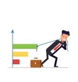 Businessman or manager draws the chart Concept vector image