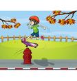 Cartoon Skater boy vector image