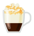 Coffee cups different cafe drinks con panna vector image