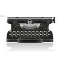 old typewriter 01 vector image
