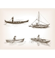 Water transport hand drawn sketch vector image