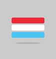 Luxembourg flag state symbol stylized geometric vector image