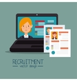 virtual human resources recruit design isolated vector image