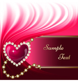 Jewelry heart background vector image