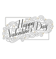 Happy Valentine s Day card Hand drawn vector image