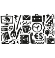 business  office things - icons vector image