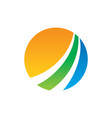 circle arrow business finance logo vector image