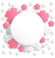 flat flower round2 vector image