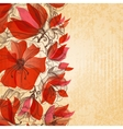 Vintage floral background cardboard texture vector image vector image