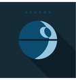 Spherical objects sign into flat style vector image