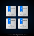 Blue business stickers on the black background for vector image vector image