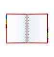 organizer web blog vector image vector image