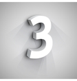 3d Number Three vector image vector image