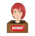 avatar woman recruit vector image