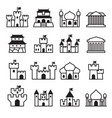 castle palace icon set 2 vector image