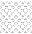 christmas new year seamless pattern with santa vector image