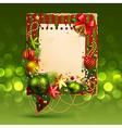 christmas vintage bubble vector image