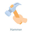 hammer icon isometric 3d style vector image