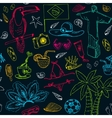 Hand drawn doodle Brazil seamless pattern vector image