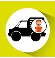 man mini truck icon vector image