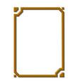 modern golden frame vector image