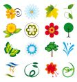 natural design elements vector image