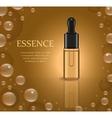 Realistic Essential oil or herbal medicine package vector image