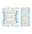 Oktoberfest banners in bavarian colors set Bavaria vector image