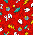 Retro hand drawn video game patch icon background vector image