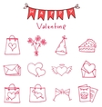 Red icon of valentine day collection vector image