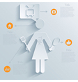 infographic housewife background vector image