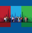 business people on a cityscape vector image