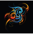 Fire and water fusion vector image vector image