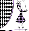 fantasy puppet Pierrette vector image