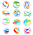 Set of colored arrows icons vector image vector image