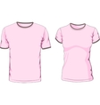 Male and female t-shirts vector image vector image