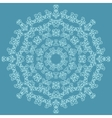 Round ornate pattern on blue background vector image